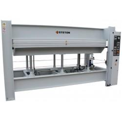 Prasa hydrauliczna półkowa na gorąco z bojlerem elektrycznym do klejenia forniru STETON 3500X1300